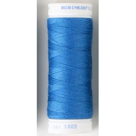 bobine de fil coudre bleu lectrique toutes coutures. Black Bedroom Furniture Sets. Home Design Ideas