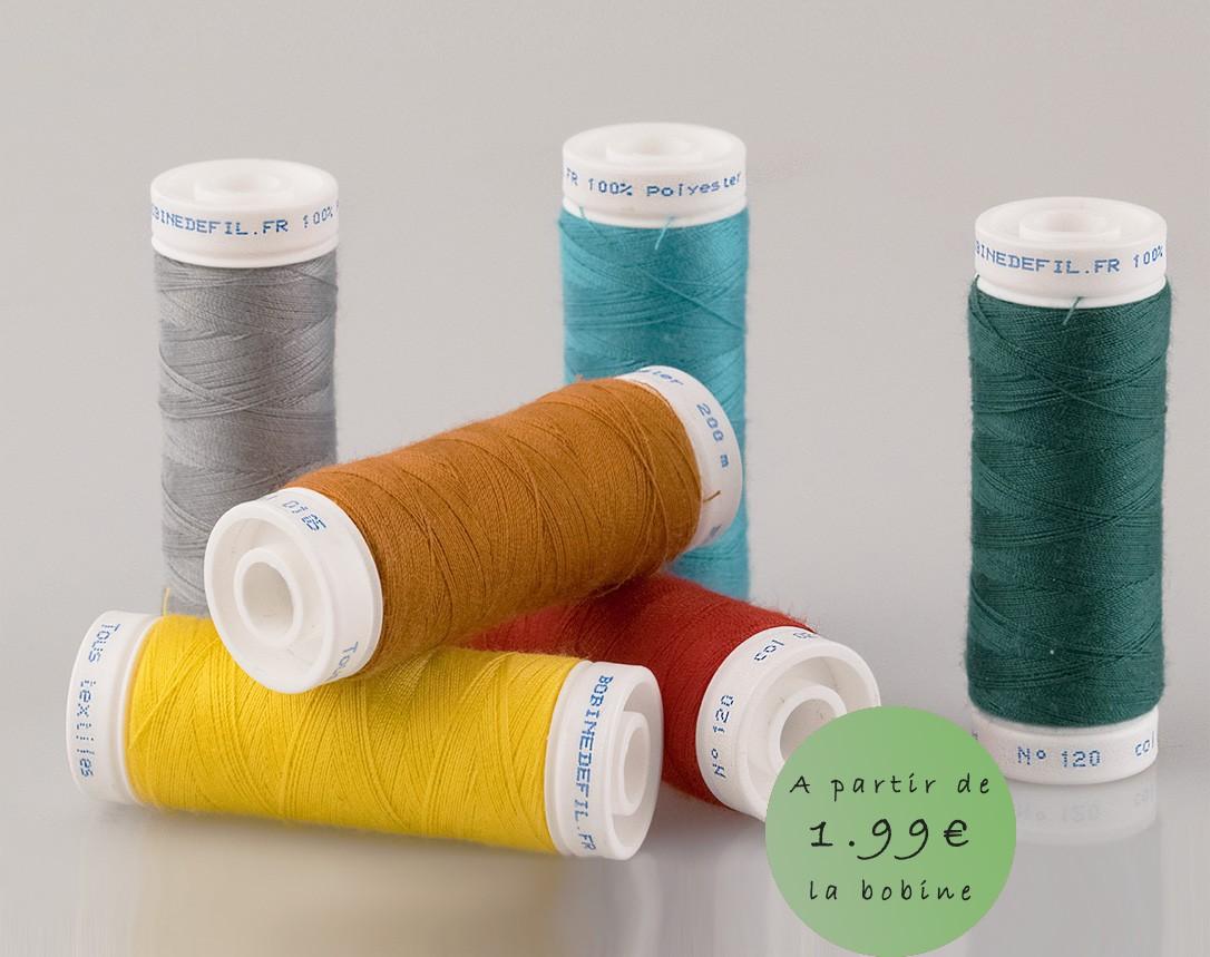 Bobine de fil à coudre tous textiles